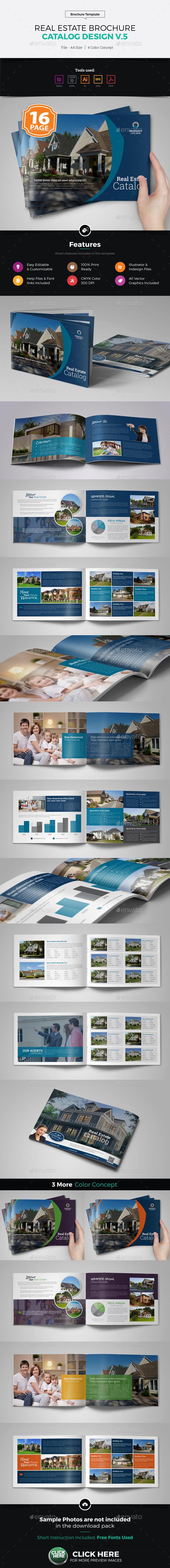 Real Estate Agency Brochure Catalog v5 - Corporate Brochures