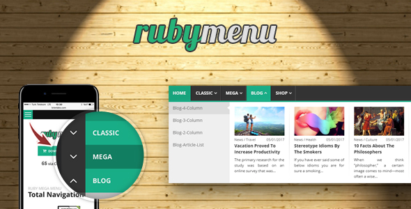 Ruby Mega Menu By Brienlabs Codecanyon