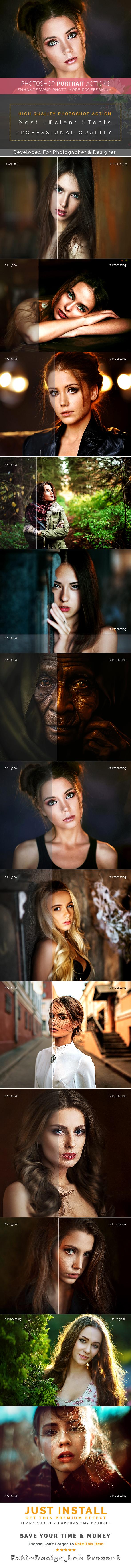 Photoshop Portrait Actions - Photo Effects Actions