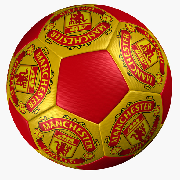 SOCCER BALL MANCHESTER UNITED - 3DOcean Item for Sale