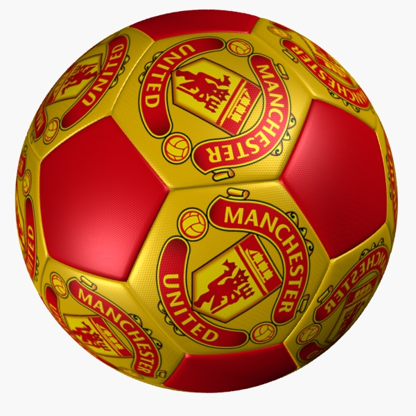 Soccer Ball Manchester United By Polygon3d 3docean