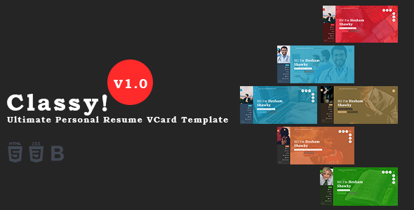 Classy – Ultimate Personal Resume VCard Template