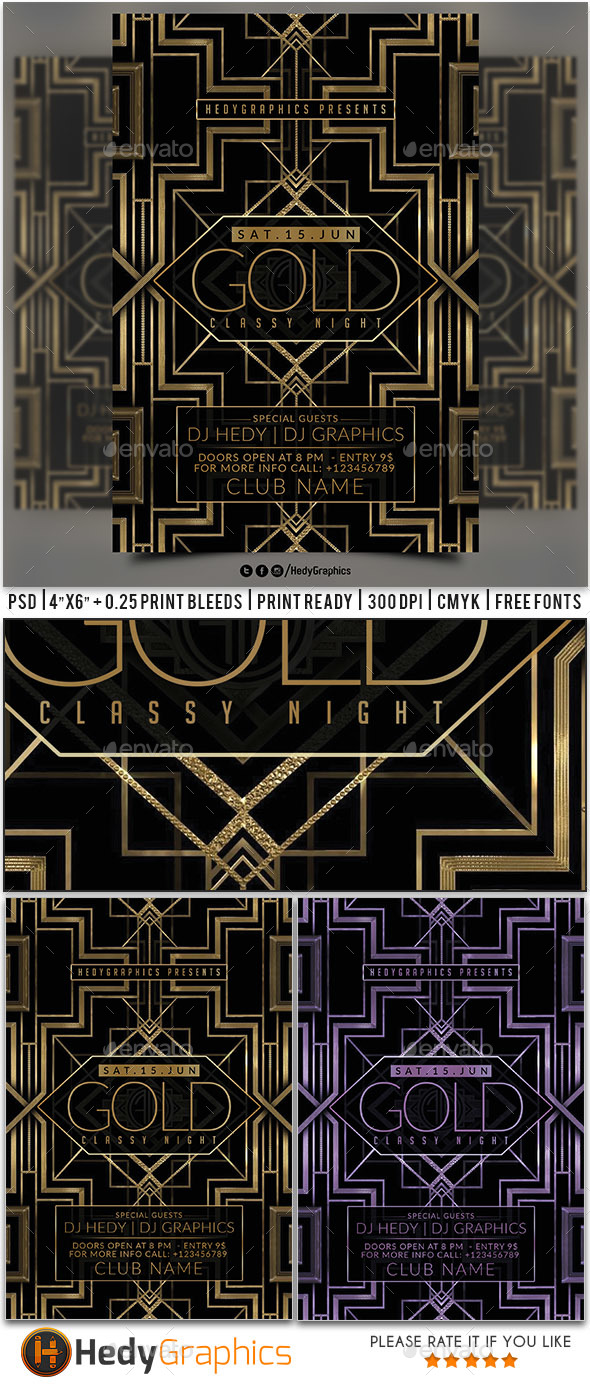 Classy Night Flyer - Events Flyers
