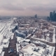 Aerial Video Footage Snowy Business Center Moscow City - VideoHive Item for Sale