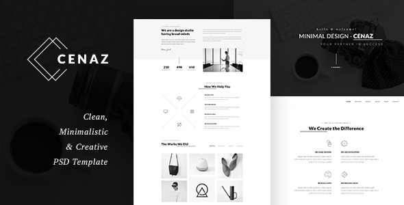 CEZAN - Minimal Multipurpose PSD Template - Business Corporate