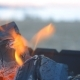 Coal Burning in a Brazier Grill. - VideoHive Item for Sale