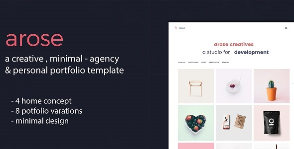 Arose – Creative Minimal Portfolio Template
