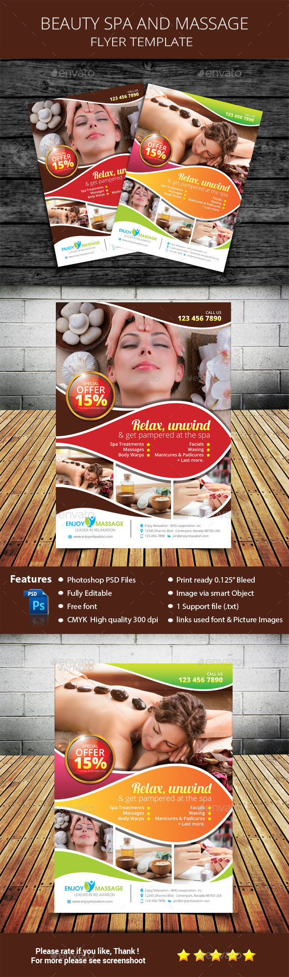 Beauty Spa and Massage Flyer Template - Commerce Flyers