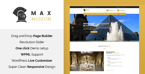 Image of Max Museum - History & Archeology WordPress Theme