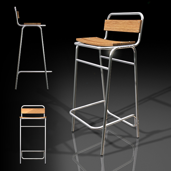 MM Bar Stool - 3DOcean Item for Sale