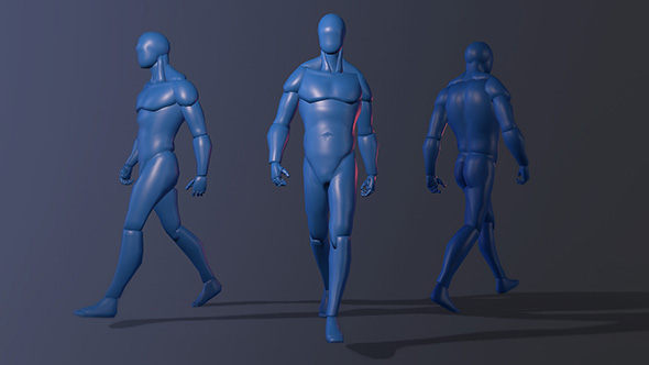 Human Male Figure Rigged - 3DOcean Item for Sale