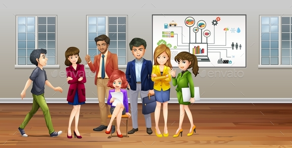 Lots of Business People in the Office - People Characters
