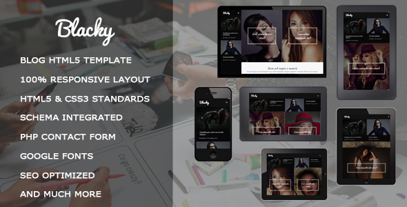 Blacky – Fashion Responsive HTML5 Template