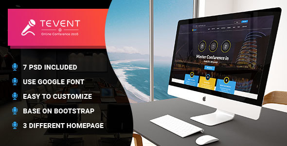 T Event – Event Conference & Meetup PSD Template