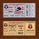 Vintage Tickets To the Championship Baseball - GraphicRiver Item for Sale