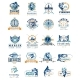 Set of Vector Fish Badges - GraphicRiver Item for Sale