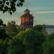 Look at the Tower Through the Trees in Summer - VideoHive Item for Sale