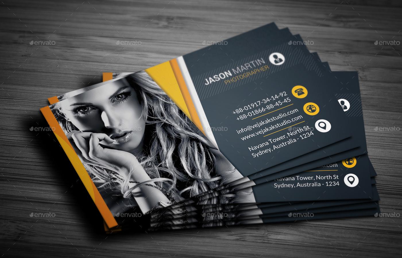 photography business card by vejakakstudio