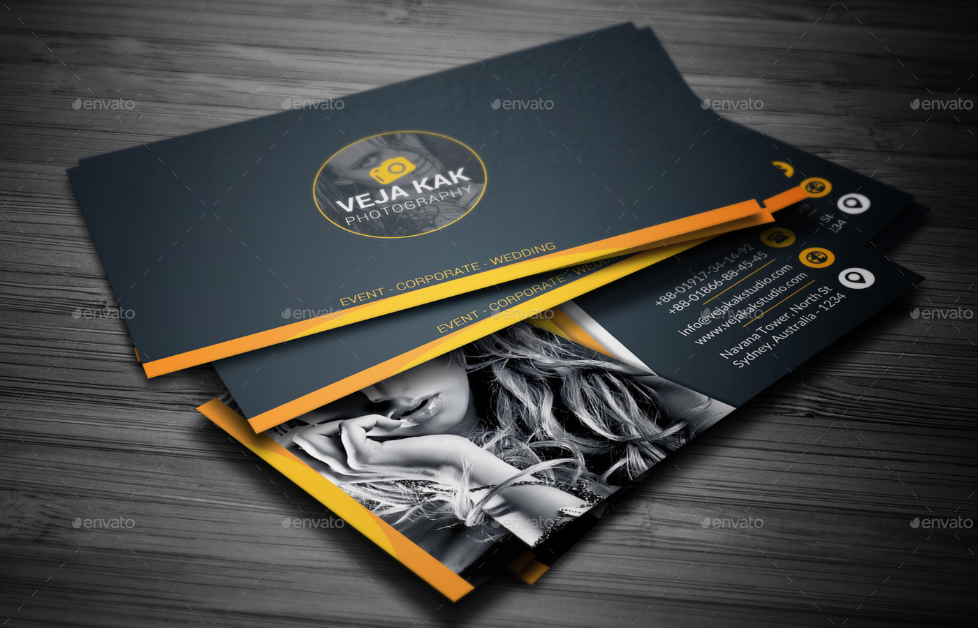 Photography Business Card By Vejakakstudio Graphicriver