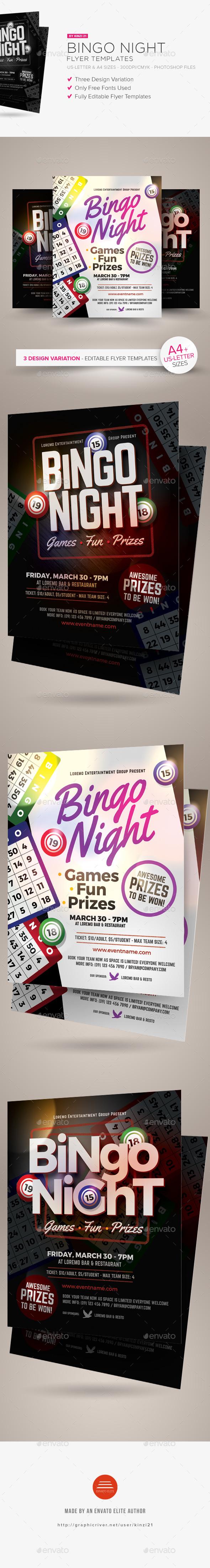 Bingo Night Flyer Templates - Miscellaneous Events