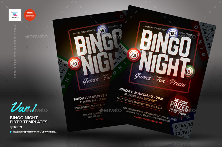 Bingo Night Flyer Templates By Kinzi  Graphicriver