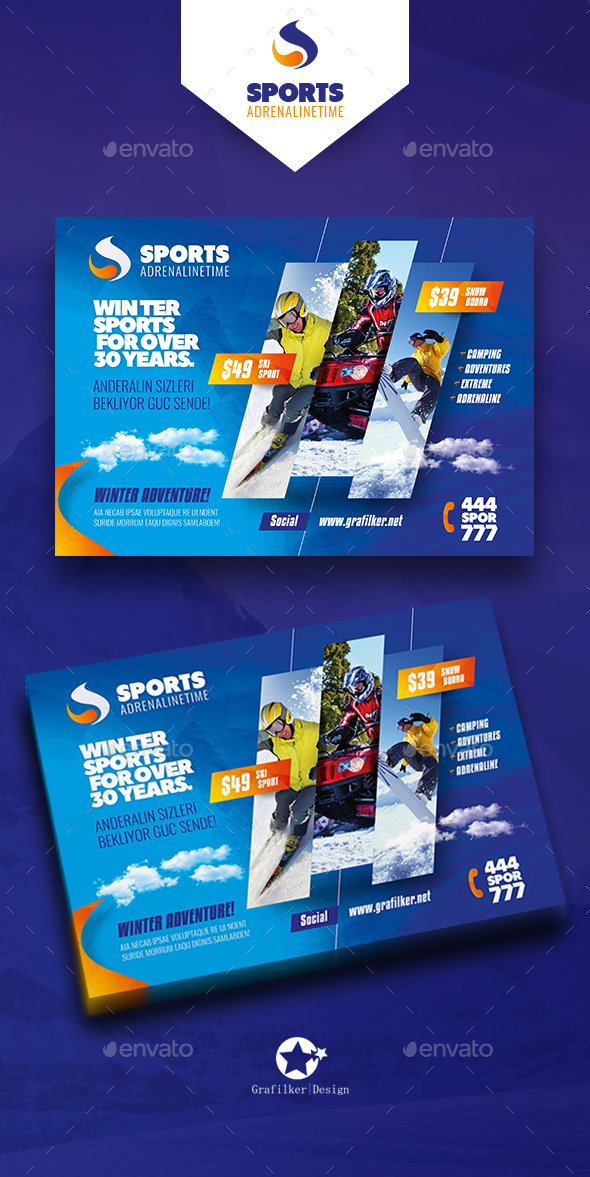 Winter Adventure Flyer Templates - Corporate Flyers