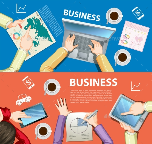 Infographic Design with Business Theme - Miscellaneous Vectors