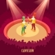 Circus Clowns Show Isometric Poster - GraphicRiver Item for Sale