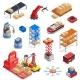 Warehouse Robots Icon Set - GraphicRiver Item for Sale