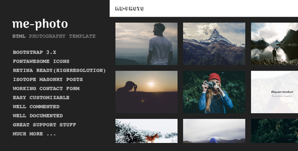 Mephoto - Photography & Portfolio HTML Template - Creative Site Templates