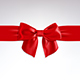 Red Bow of Satin Ribbon - GraphicRiver Item for Sale