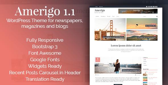 Amerigo – Responsive WordPress Theme for newspapers, magazines and blogs