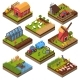 Agricultural Compositions Isometric Set