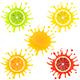 Citrus Fruit in Splashes of Juice - GraphicRiver Item for Sale