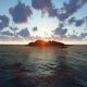 Island and Sunset Clouds - VideoHive Item for Sale
