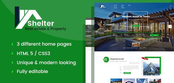 Shelter – Real Estate & Property HTML Template