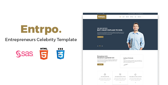 Entrpo – Entrepreneurs Celebrity Template
