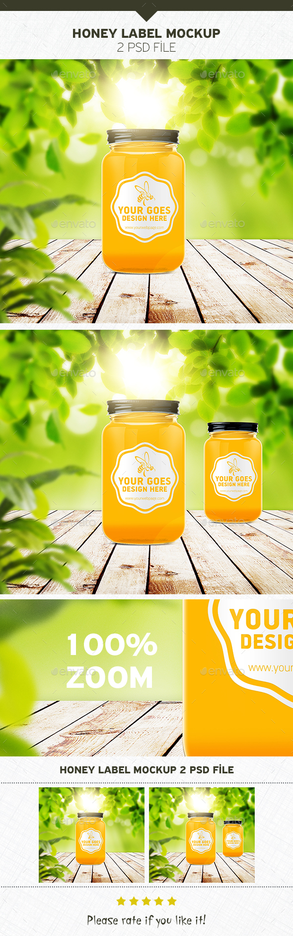 Honey Label Mockup - Food and Drink Packaging