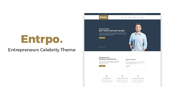 Entrpo - Entrepreneurs Celebrity WrodPress Theme - Creative WordPress