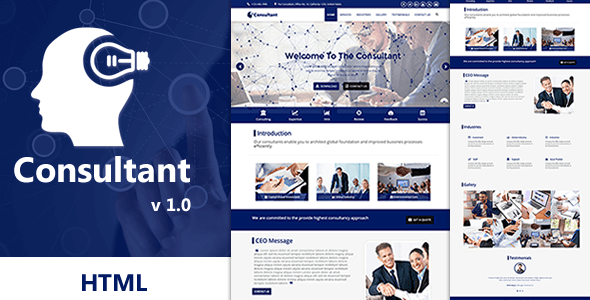 Consultant – OnePage Multi-Purpose HTML Template