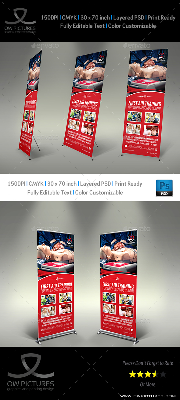 First Aid Signage Template - Signage Print Templates