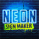 Neon Sign Maker Photoshop Action - GraphicRiver Item for Sale