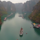 Aerial View Of Tour Boats in Halong Bay - VideoHive Item for Sale