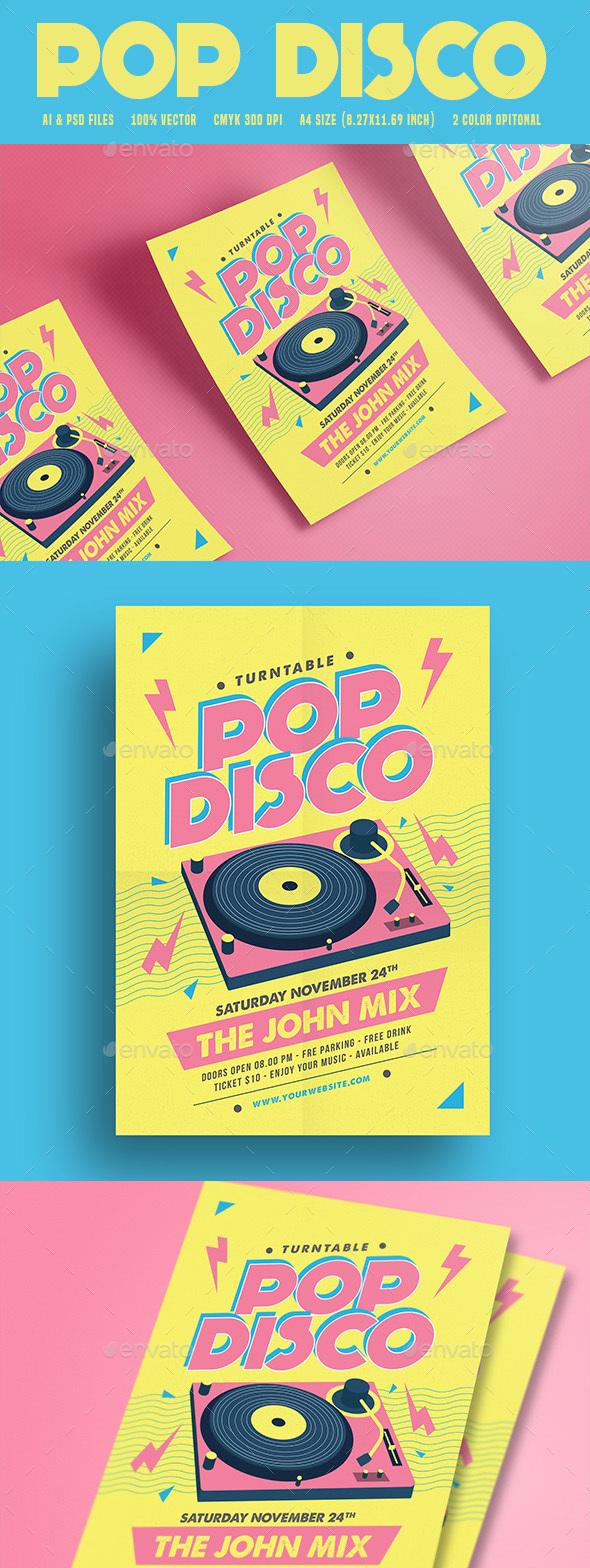 Pop Disco Flyer - Flyers Print Templates