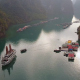 View Of Tourist Boats In Halong Bay - VideoHive Item for Sale