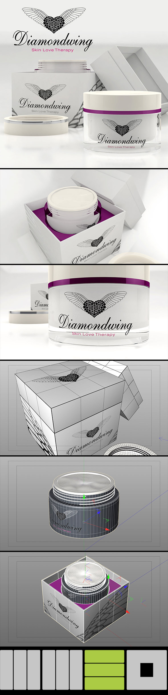 Cosmetic Cream Crucible C4D (native), obj, fbx, dae and 3ds - 3DOcean Item for Sale