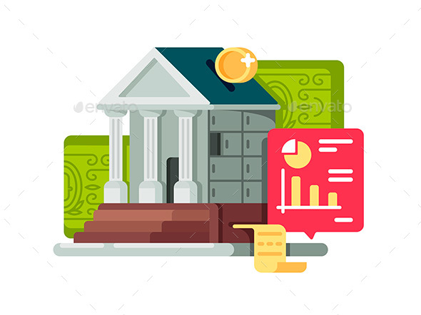 Bank and Banking Finance Icon - Miscellaneous Vectors
