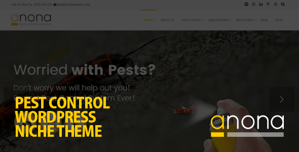 Anona - Pest Control WordPress Theme - Business Corporate