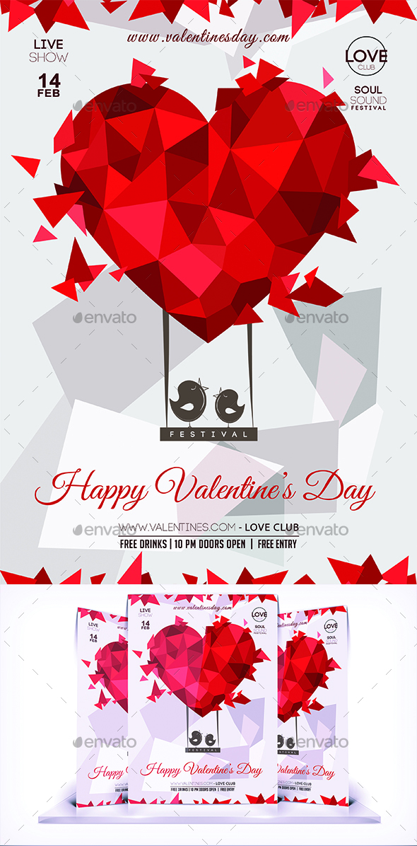 Valentines Day Lovers Flyer Vol 2 - Flyers Print Templates
