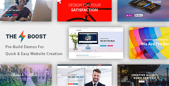 The Boost – Creative Multi-Purpose + WooCommerce WordPress Theme